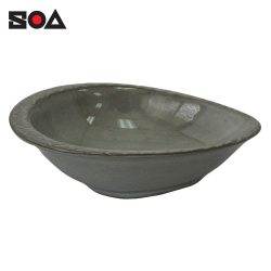 Oval Spoon Rest S Mishima Dipping